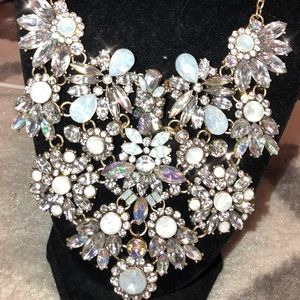 Rhinestone Necklace Pageant Costume Bling